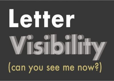 Letter Visibility