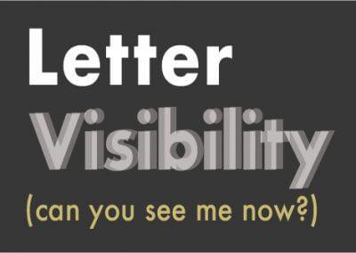 Letter Visibility
